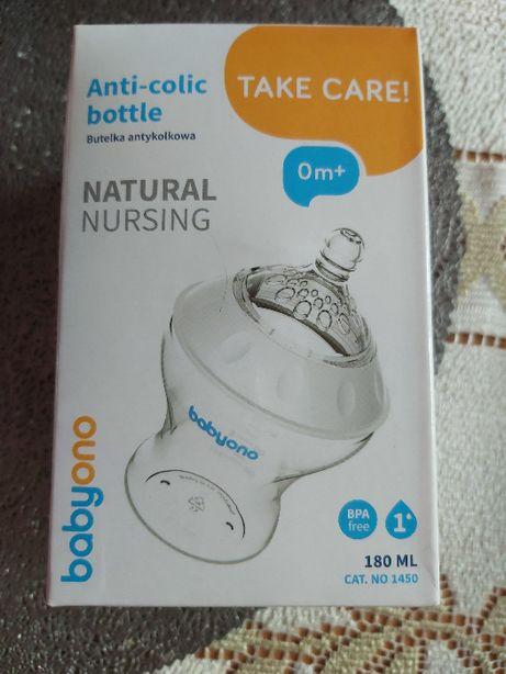 Babyono natural nursing butelka antykolkowa 180 ml nowa