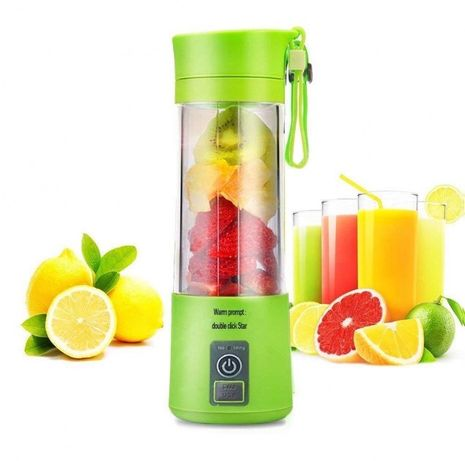 Блендер Smart Juice Cup Fruits USB Зеленый 2 ножа(4 ножа)