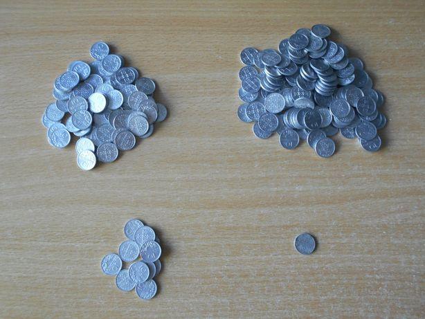 211 Moedas de 10 centavos dos anos de 1974, 75 e 76 (pouca circulação)
