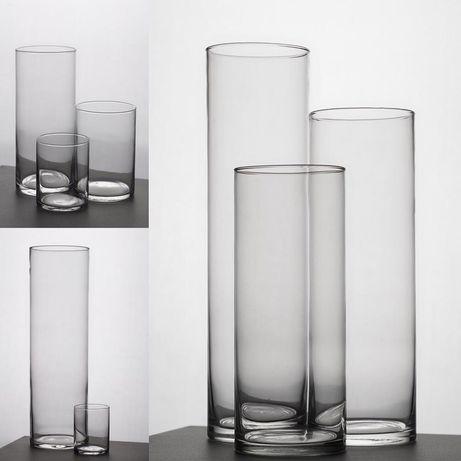 Стеклянные вазы, стеклянные колбы.