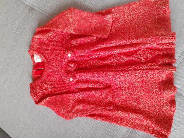 Sukienka ciepła  w rozmiarze 80;)