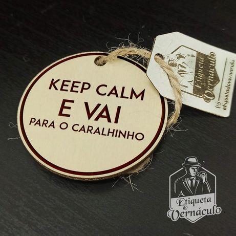 porta chaves etiqueta vernáculo keep calm