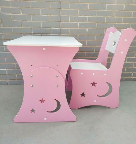 Стол и стул, столик и стульчик для мальчика, девочки по ГОСТ звёзды
