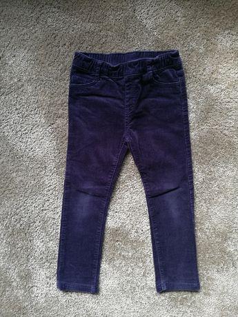 Spodnie sztruksowe H&M 104