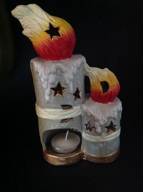 Castiçal em cerâmica para vela