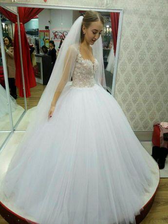 НОВА шикарна весільна сукня+фата/свадебное платье Р. 42-44