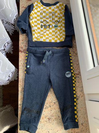 Komplecik Coccodrillo bluzka+spodnie 6-9 miesiecy