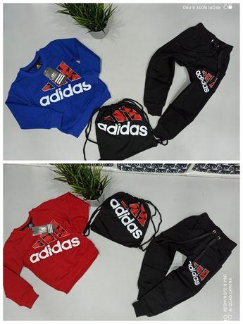 Dresy logo Adidas bluza spodnie worek 98-122