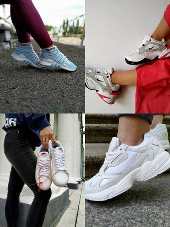 Женские кроссовки Nike Air Force,Nike M2K Tekno,adidas Falcon,Vans