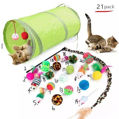 Zestaw zabawek dla kotów. 21 szt.