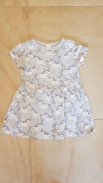 NEXT sukienka w jednorożece roz. 104