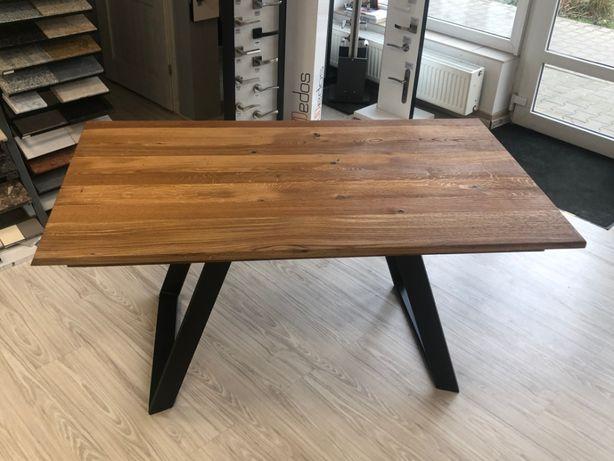 Stół dębowy loftowy 160x90x72 + dostawka 40cm Stoły stoliki na wymiar