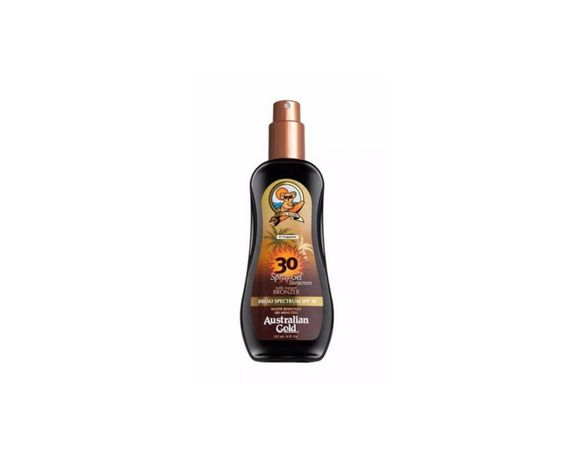 Australian Gold Sunscreen Spray Gel with Instant Bronzer SPF30 237ml