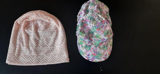 2 czapki wiosna lato