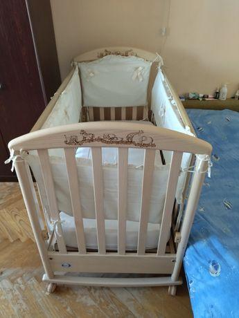 Детская кроватка PaliZoo с ортопедическим матрасом Pali + защита