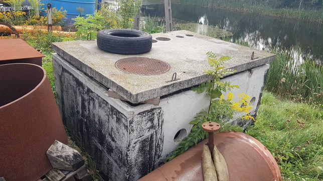 Betonowy zbiornik, osadnik do ścieków, komora do przepompowni