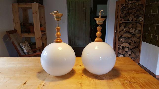 Lampa drewniana, z elementem drewnianym