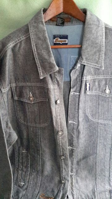 Kurtka dżinsowa jeans jasny szary kolor r. L/XL marka ENYCE DENIM