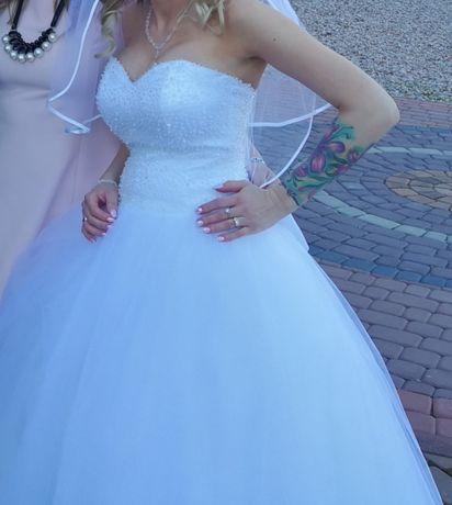 Suknia ślubna, rozmiar 36 (34 też będzie pasować) XS, S
