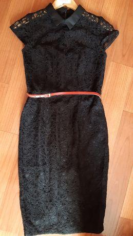 Вечернее нарядное ажурное кружевное платье 34 размер