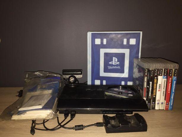 Konsola PlayStation 3 500GB+kamerka+6 gier i wonderbook z dokumentacją