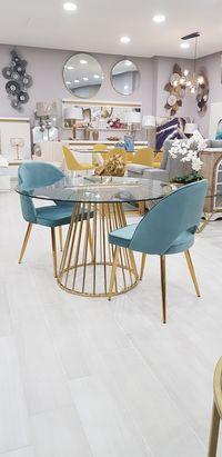 Cadeira Velvet - Verde Água - Pés Dourados ou Prata By Arcoazul
