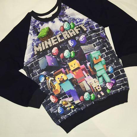 Реглан Minecraft, свитшот Майнкрафт кофта джемпер