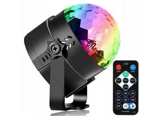 Projektor Dyskotekowy RGB LED Kula Disco + PILOT