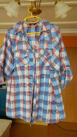 Fantastyczna bluzka koszulowa w kratę Inspire NEW LOOK - UK22/EU50 !!