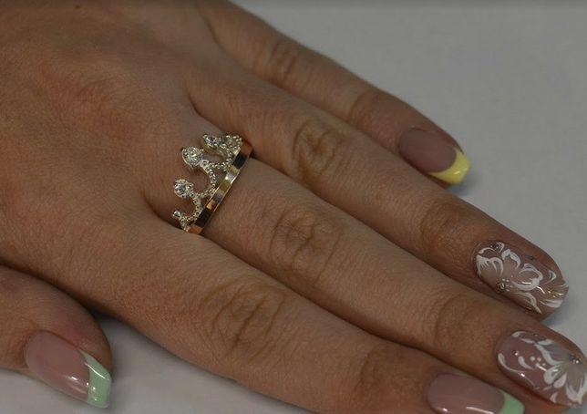 Серебряное кольцо с пластинами из золота Арт.013к корона