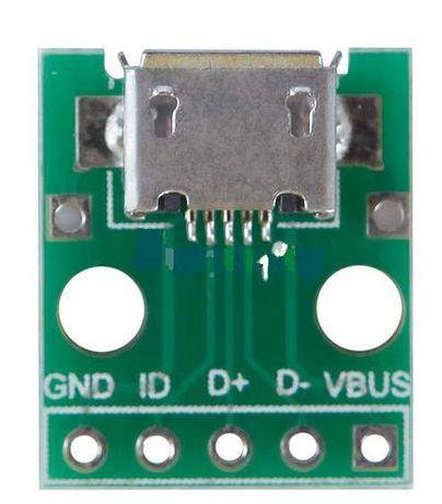 Микро USB (MICRO USB) порт (мама) на плате
