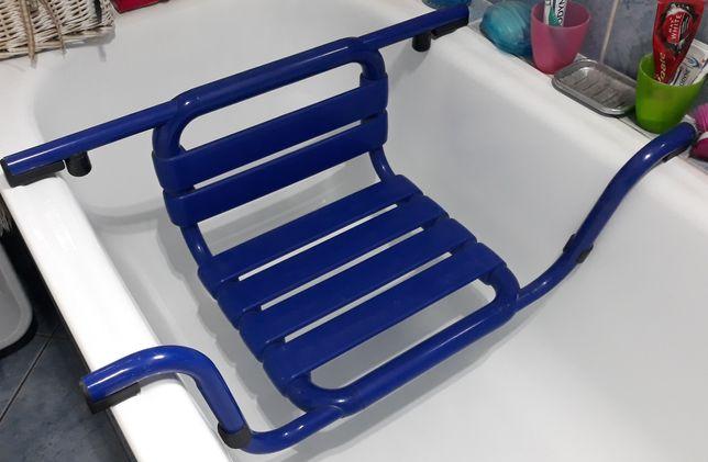Krzesełko Ławka wgłębna na wannę z oparciem NAUTICA