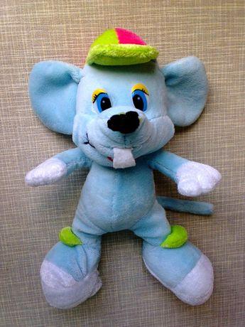 Игрушка мягкая - Мышонок (мышка, мышь) в кепке