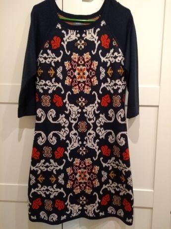 Sukienka dzianinowa, Boho, vintage