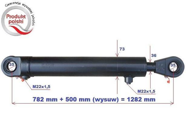 Siłownik hydrauliczny wysuw 500 mm-TUR, chwytak , krokodyl itp - VAT23