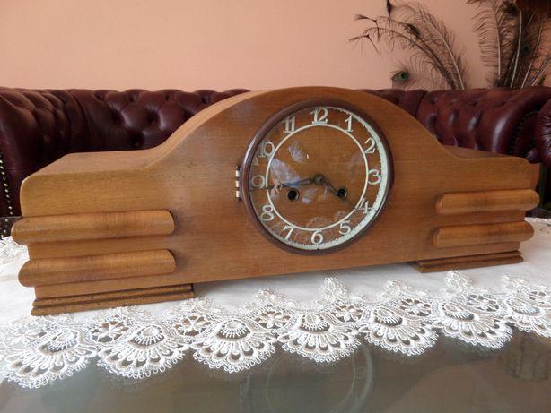 piękny stylowy kominkowy zegar dębowy stan bdb WYSYŁKA