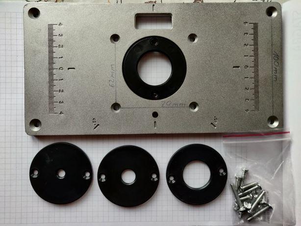 Frezarka górnowrzecionowa - płytka, wkładka, blat. Router Plate Insert