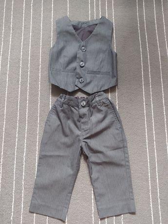 Spodnie z kamizelką eleganckie dla chłopca 9-12 miesięcy