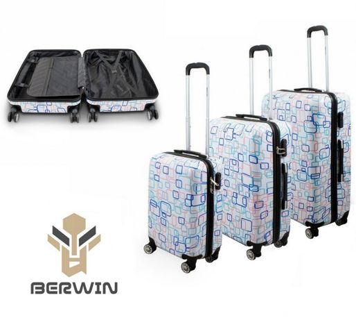 M17009 Komplet walizek 3szt bagaż do samolotu XL+L+M BERWIN COLORFUL