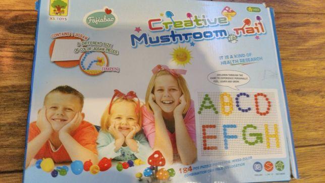 Pinezki Grzybki Mozaika Creative Mushroom Nail
