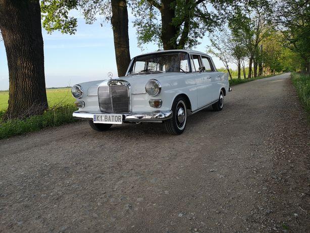 Auto samochód zabytkowy do ślubu, Mercedes w110