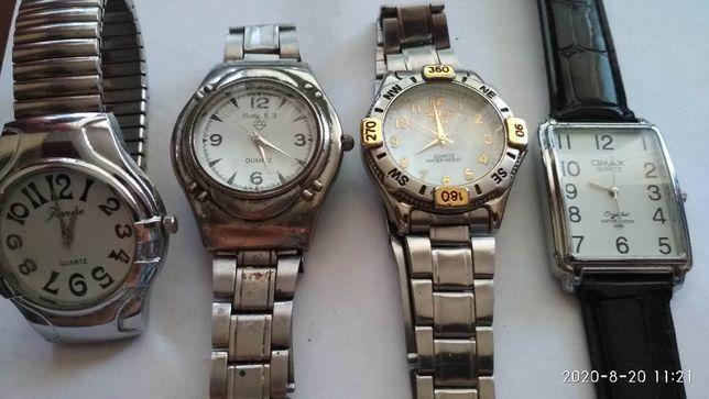 Наручные часы все кварц, 4 шт, Hong.S.D., Seiko, OMAX, Lunye