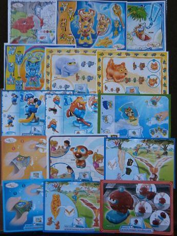 Karteczki od figurek numer katalogowy NV,UN,DC,DE i inne