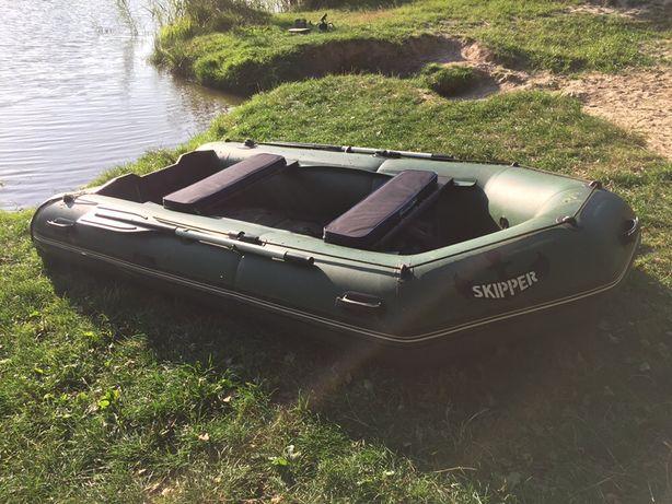 Надувная лодка Шкипер 330 с жестким дном + эхолот Lowrance