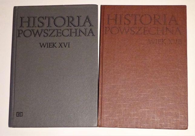 historia powszechna w 16 i 17, Andrzej Wyczański 2 książki i mapa