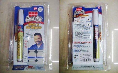 Карандаш-маркер для затирки кафельных швов