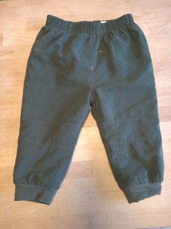 Ocieplane spodnie chłopięce r. 80