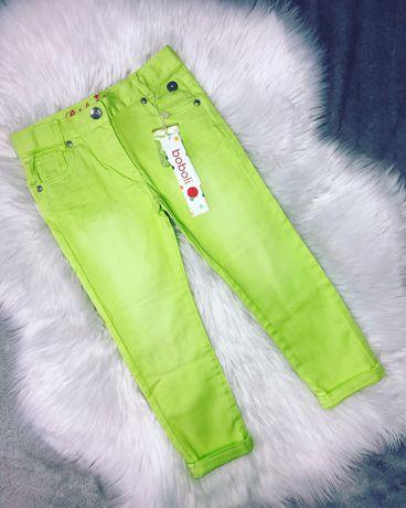 Новые яркие брюки, штаны, джинсы Boboli на девочку 4 года,104 см