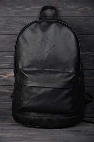 Рюкзак кожаный спортивный мужской / чоловічий / портфель черный