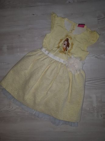 Sukienka bal karnawałowy Księżniczka Belle Disney 86 92 cm śliczna